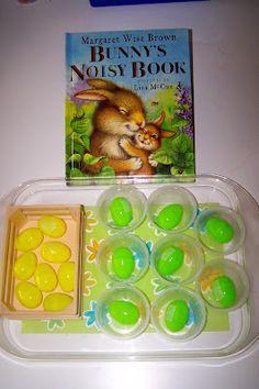 tot trays, book idea, tot school, followup book, easter eggs, book activities, princesses, april classroom