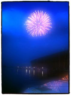 Fireworks at Lower Harbor in Marquette, MI #puremichigan
