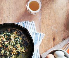 Quick & Easy Scrambled Eggs with Spinach & Parmesan by bonappetit #Eggs #Spinach #Parmesan