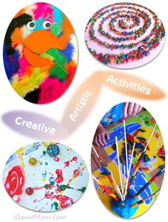 Creative Artistic Activities for Kids – Mom's Library on iGameMom.com