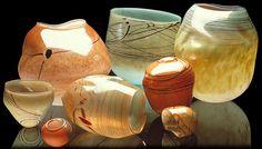 glass art, art glass, indian basket, glass basket, artist