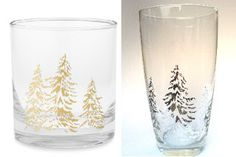 Spicy Pinecone: William's Sonoma Knockoff- Christmas Glasses