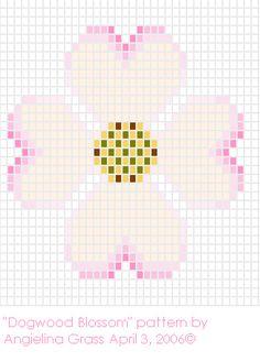 Dogwood Blossom beadwork pattern