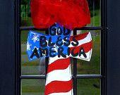 Door Hanger 4th of July Cupcake Summer Front by LooLeighsCharm