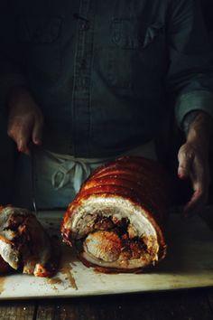stuffed pork loin.