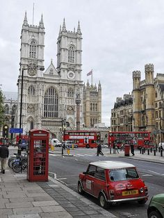 London, where else? buses, red, british, westminst abbey, minis, travel, london england, place, westminster abbey london