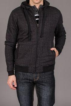 Micros Wizard Sleeves Hoodie Zip Up Sweater Black