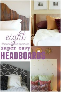 Super easy headboard