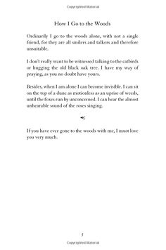 """Mary Oliver, """"How I Go to the Woods"""""""