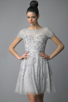 Cocktail Dress with lace and crystals! Also available in black