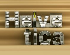 By Chris Labrooy helvetica 3d type design