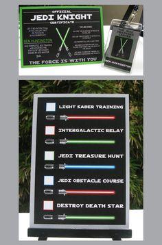 jedi+party | The Jedi Training Passes and Jedi Knight Training Certificates are ...