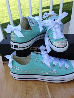 10th Wedding anniversary Converse for our vow renewal ceremony, with a matching pair for our daughter. :0)
