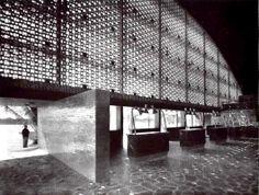 Mario Pani y Enrique del Moral: Vista interior del Aeropuerto Terminal de Acapulco, Guerrero, México, 1955