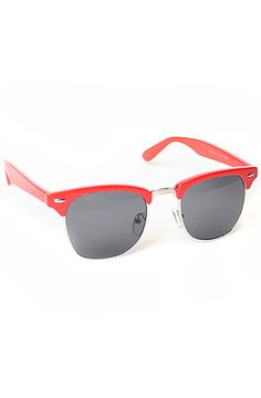 red clubmaster sunglasses