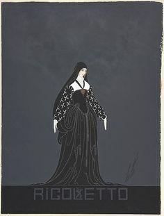 Erté, Costume design for the opera Rigoletto via via http://avedonanderte.tumblr.com