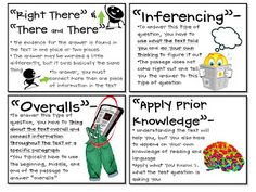 My blog post about reading test prep--teach your students to think through the process of reading tests using what you have tuaght them all year. (Includes a bulletin board, 3rd-8th question sorts--freebie, and 2 questioning strategies) common core ELA