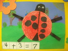 ladybug marvelousmath, ladybug addition, schools, boxes, educ, school box, addit ladybug, addit art, first grade