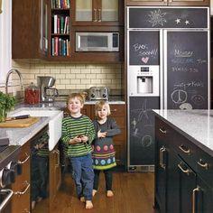 Chalkboard fridge !