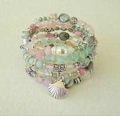 Boho Chic Bracelet Stacked Bracelets Fab Glamour by BohoStyleMe