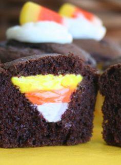 Candy Corn Cupcake!