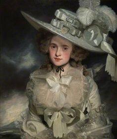 """""""Mary Boteler"""", by John Hoppner, 1786, The Higgins Art Gallery & Museum, Bedford"""