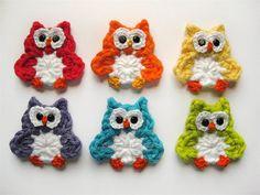PATTERN - Crochet Owl Applique