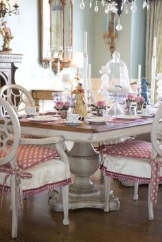 chair cover, country diningrooms, dine room, din room, chairs, habersham furnitur, decor idea, dining tables, table designs