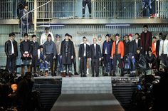 In the cellblock with Dsquared2 for FALL / WINTER 2014-2015 in Milan.
