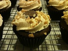 Chocolate Peanut Butter Cupcakes with Peanut Butter Cream Cheese Frosting