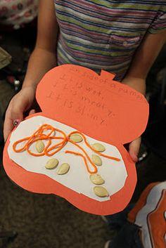 Bookbto make after exploring the inside of a pumpkin