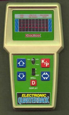 Coleco Electronic Quarterback.  My PSP of the 80's.  What a great game.  Who needs cutting edge graphics when you have a flashing red dot?