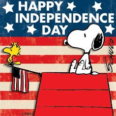 :) Happy #4thOfJuly #IndependenceDay! #Snoopy #Peanuts