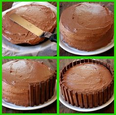Kit Kat cake Recipe - maybe use white icing for portal of power from skylanders, even replace kit kats with nutty buddy bars