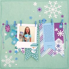 Frosty Friends Collection from Doodlebug Design - Scrapbook.com- make a Frozen inspired layout with the Frosty Friends line from doodlebug!