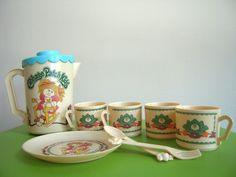 Vintage 1980's Cabbage Patch Kids Tea party - SO CUTE