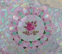 Fancy Mosaic Table Closeup Focal, ~by Sondra, Traders of the Lost Art 1