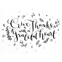 Give thanks with a g
