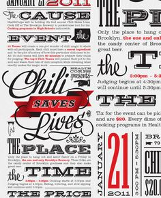 graphic design, vintage typography, chilis, poster, inspir, save live, fonts, type, typographi