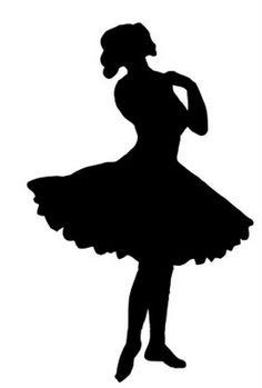 Vintage Clip Art - Pretty Ballerina Silhouette - The Graphics Fairy