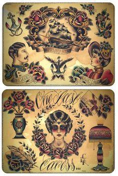 traditional tattoos, tattoo traditional flower, tradit flash, tattoo flash, americana tattoo