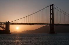 Sunset on the Golden Gate Bridge