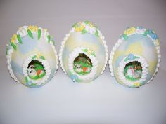 "I like the light shading of the shells. Panoramic Sugar  Egg Edible ""Speckled"" Egg"