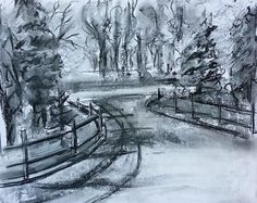 PleinAirLandscape Online drawing art class: http://jeanneoliver.ning.com/group/sketchworks-confidence-in-drawing