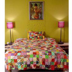 scrappy disorder.  vintage patchwork quilt