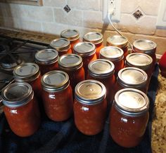 Canned Sloppy Joe Sauce (with or without the meat). Perfect pantry staple for the upcoming summer!