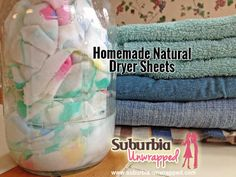 Learn how to make natural dryer sheets.  Skip the nasty chemicals and save money!
