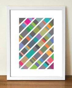 Mid century poster print, DNA, 11.7  x 16.5 (A3) artists giclée print $23 retro posters, centuri poster, poster prints