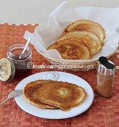Tiganites (Greek pancakes) yogurt pancak, greek pancak
