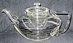 Pyrex squat clear teapot